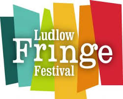 A photograph of the Ludlow Fringe logo
