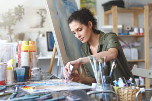 Creative person engaged in arts activities